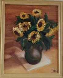 Gelb, Blumen, Ölmalerei, Malerei