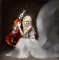Frau, Musik, Violine, Zeichnungen