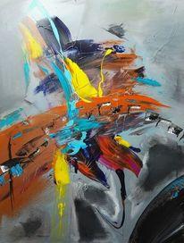 Abstrakte malerei, Acrylmalerei, Stimmung, Acrylart