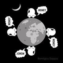 Auto, Abgase, Erde, Mond