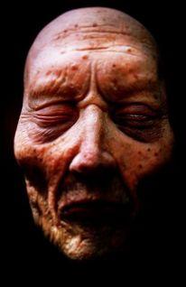 Leiche, Schatten, Gesicht, Körper