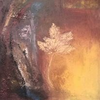 Malerei, Blätter, Mischtechnik
