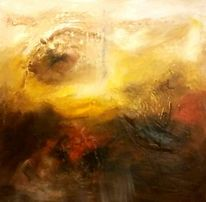 Berge, Abstrakt, Acrylmalerei, Spachtel
