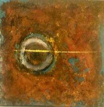 Abstrakt, Schön rostig, Acrylmalerei, Mischtechnik
