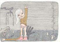 Unterhose, Arm, Mädchen, Zeichnungen