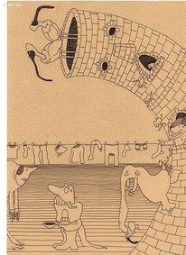 Turm, Elefant, Wäsche, Zeichnungen