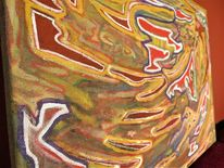 Abstrakt, Malerei, Energie, Energie in manifestation