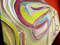 Acrylmalerei, Wegweiser, Wiedergeburt, Malerei