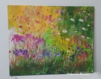 Ruhebild, Pflanzen, Blumen, Malerei