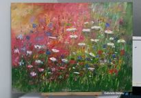 Gemälde, Blumen, Kunstwerk, Feld