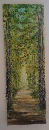 Weg ins licht, Landschaft, Baum, Wald