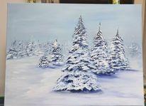 Winter, Schneelandschaft, Münsterland, Gemälde