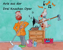 Comic, Oper, Ein team, Aquarellmalerei