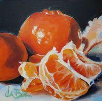 Stillleben, Mdf, Mandarine, Acrylmalerei