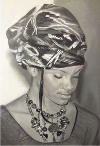 Lutz spieß, Frau, Afrika, Nachdenklich