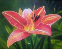 Lilia, Pflanzen, Ölmalerei, Lutz lila