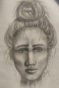 Skizze, Frau, Realismus, Kontrast