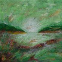 Landschaft, Grün, Malerei, Natur