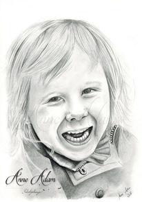 Bleistiftzeichnung, Kind, Mädchen, Tochter