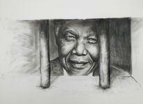 Menschen gefängnis, Nelson mandela, Augen, Mann
