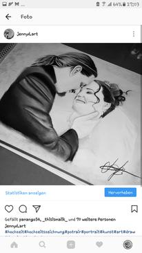 Hochzeit, Portrait, Malerei, Zeichnung