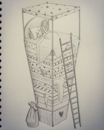 Bleistiftzeichnung, Illustration, Concept art, Buch