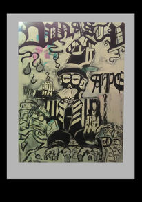 Comic, Malerei, Menschen, Ape