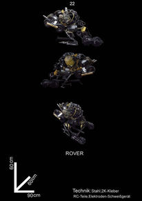 Stahl, Fahrzeug, Science fiction, Kunsthandwerk