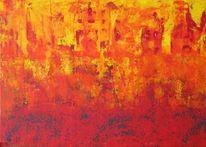 Gelb, Abstrakt, Flammen, Rot
