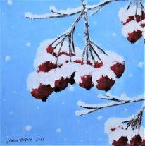 Beere, Winter, Schnee, Malerei