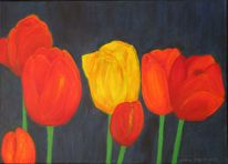 Tulpen, Rot, Blumen, Pflanzen