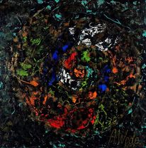 Malerei, Muschel, Abstrakt