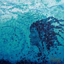 Wasser, Meer, Frau, Blau