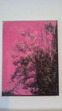 Abstrakt, Ölmalerei, Ohne pinsel, Malerei