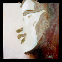 Buddha, Mischtechnik, Patina, Kupfer