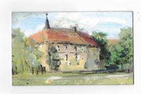 Ölmalerei, Burg, Sommer, Lüdinghausen