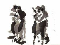 Tango, Violine, Paar, Pianist
