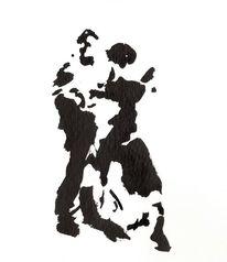 Tanzpaar, Tango, Mischtechnik,