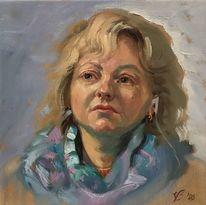 Menschen, Ölmalerei, Frau, Studie