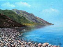 Steinufer, Malerei, Baikalsee, Natur