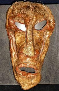 Gesicht, Keramik, Relief, Ton