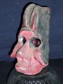 Gesicht, Skulptur, Figural, Ton