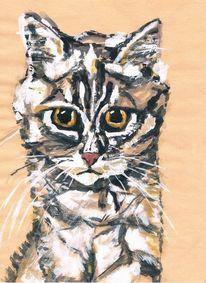 Mieze, Kater, Katze, Malerei