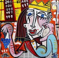 Zeitgenössische kunst, Reichtum, Dick, König