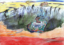 Illustration, Szene, Traum, Verfremdung
