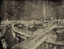 Druckgrafik radierung, Figurative kunst, Gegenwartskunst, Aquatinta