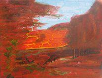 Landschaft, Acrylmalerei, Malerei,