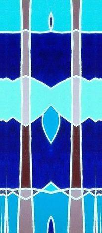 Abstrakt, Abendstimmung, Bschoeni, Blau