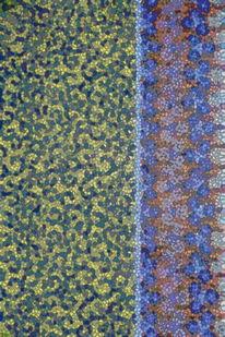 Blau, Abstrakt, Gelb, Bunt