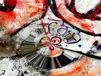 Abstrakt, Wand, Graffiti, Struktur